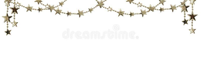 Bożenarodzeniowe girlandy z srebnymi koralikami i gwiazdami zdjęcia royalty free