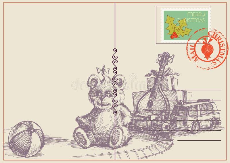 Bożenarodzeniowe zabawki i prezenty royalty ilustracja