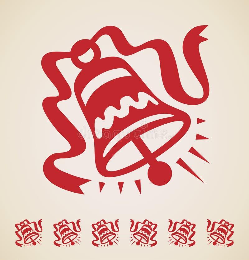 Bożenarodzeniowego dzwonu rocznika element royalty ilustracja