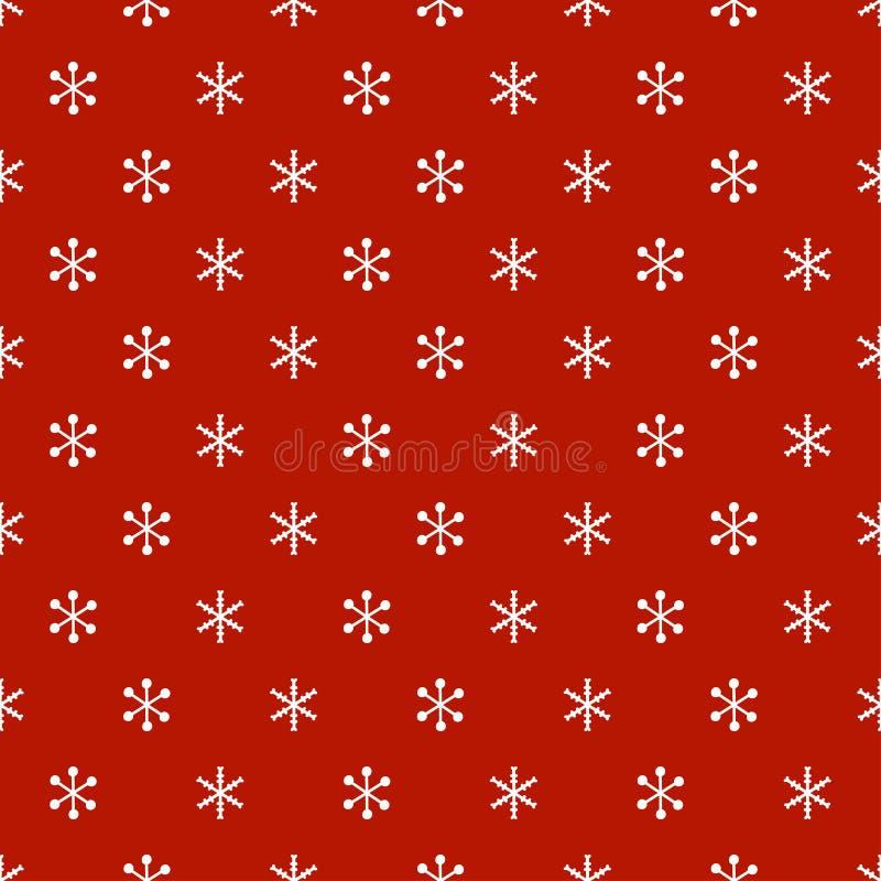 Bożenarodzeniowego nowego roku bezszwowy wzór z płatkami śniegu kolor tła wakacje czerwonego żółty płatki śniegu Xmas zimy modna  royalty ilustracja