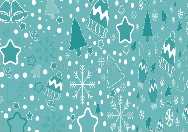 Bożenarodzeniowego sztandaru tła wektorowego szablonu kolorowi elementy lubią prezenty i dekoracje ilustracja wektor