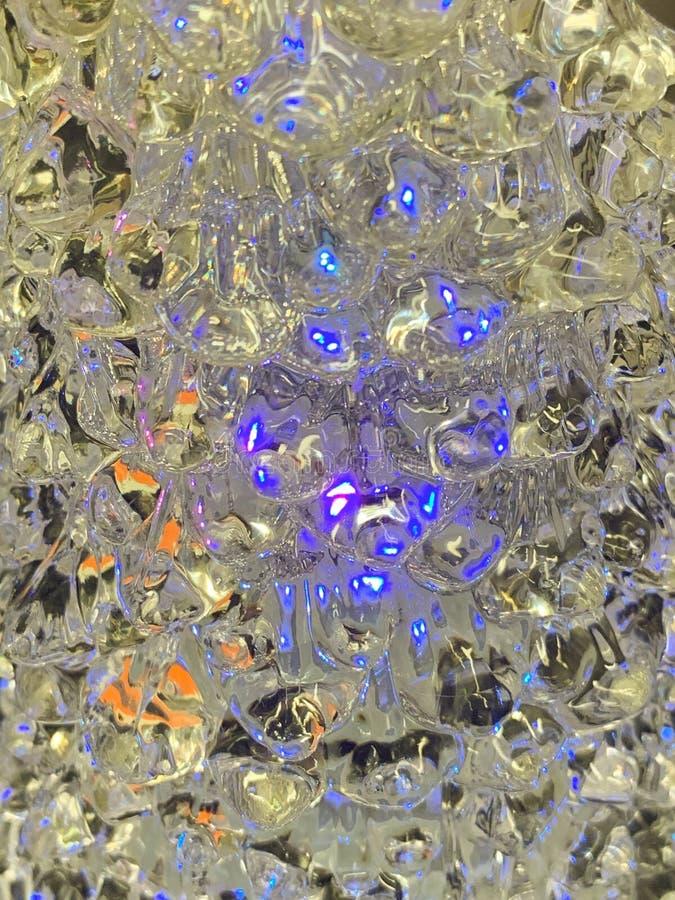 Bożenarodzeniowej dekoracji Kolorowy Lekki abstrakcjonistyczny tło na krysztale obrazy stock