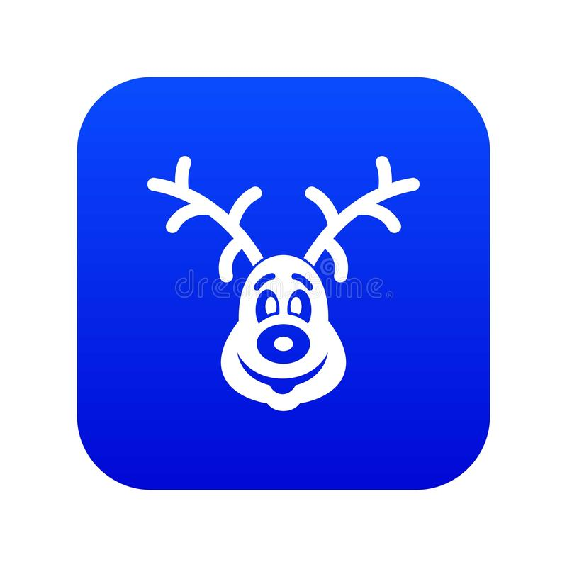 Bożenarodzeniowej jeleniej ikony cyfrowy błękit ilustracja wektor