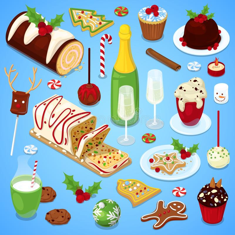 Bożenarodzeniowej kuchni świąteczny gość restauracji obrazy royalty free