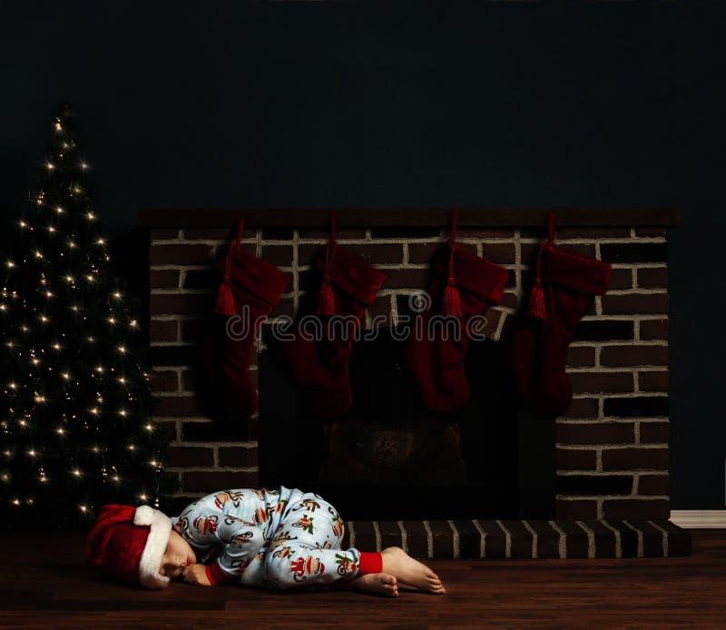 Bożenarodzeniowej Noc Dziecko fotografia stock