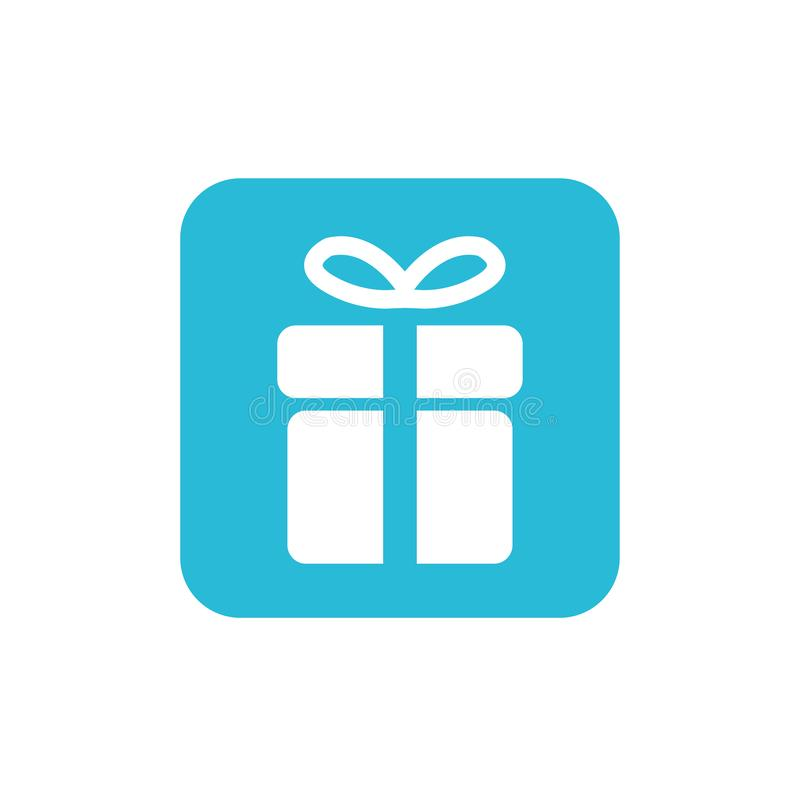 Bożenarodzeniowej prezent ikony ilustracyjny wektorowy symbol xmas prezenta ikona royalty ilustracja