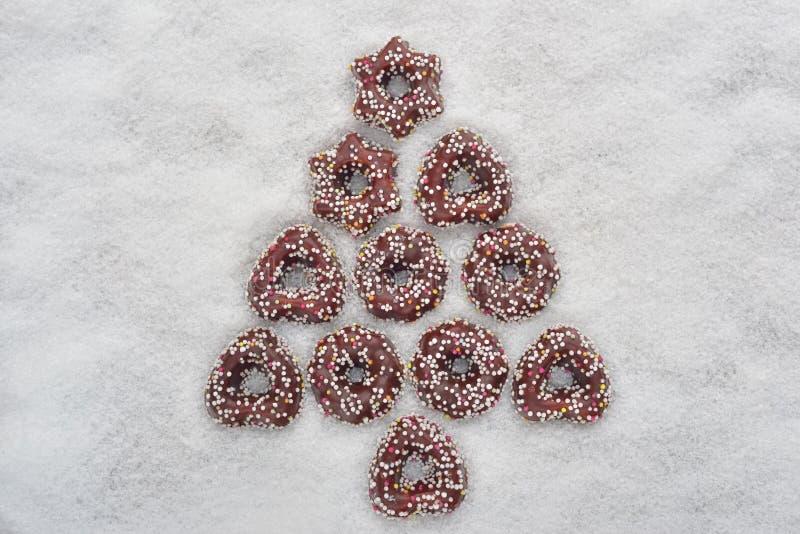 Bożenarodzeniowi ciastka drzewni zdjęcia royalty free