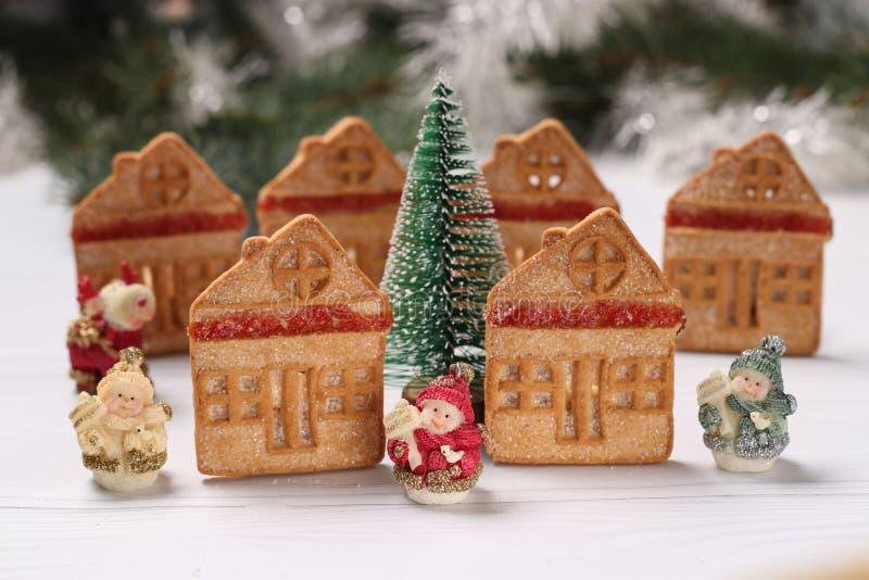 Bożenarodzeniowi ciastko domy obrazy stock