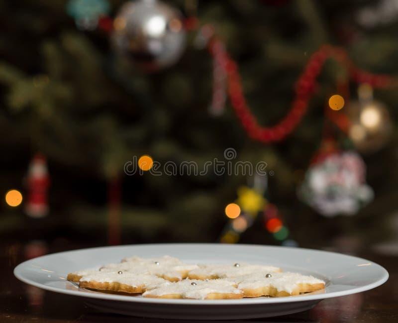 Bożenarodzeniowi cukrowi ciastka zdjęcia stock