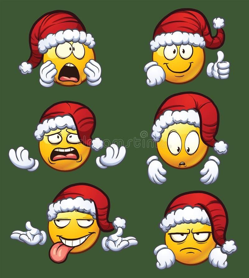 Bożenarodzeniowi emoticons ilustracji