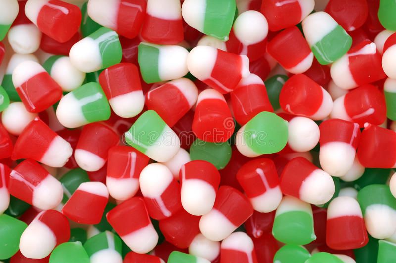 Bożenarodzeniowi gumowaci cukierki obraz stock