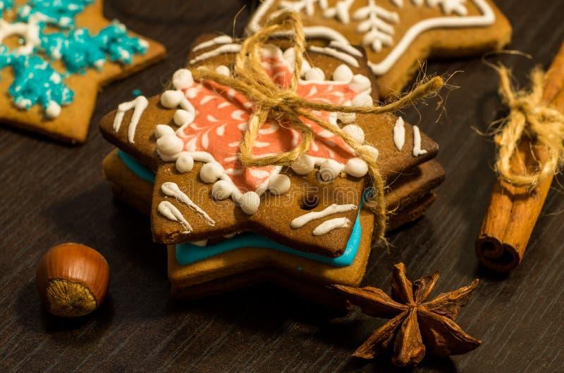 Bożenarodzeniowi imbirowi ciastka obraz stock