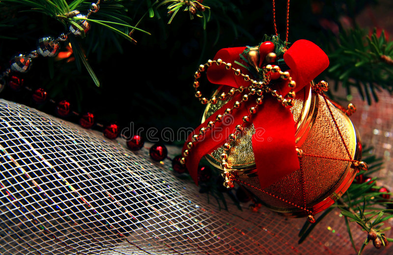 Bożenarodzeniowi ornamenty fotografia royalty free