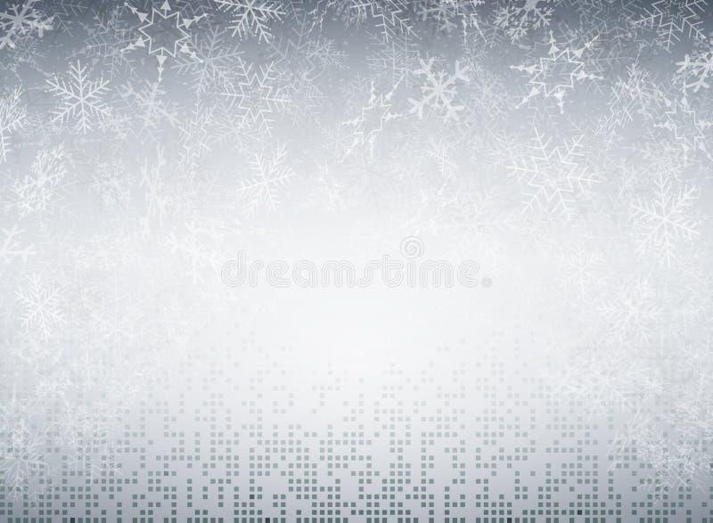 Bożenarodzeniowi płatek śniegu futurystyczny technologia kwadrat deseniują pix ilustracja wektor
