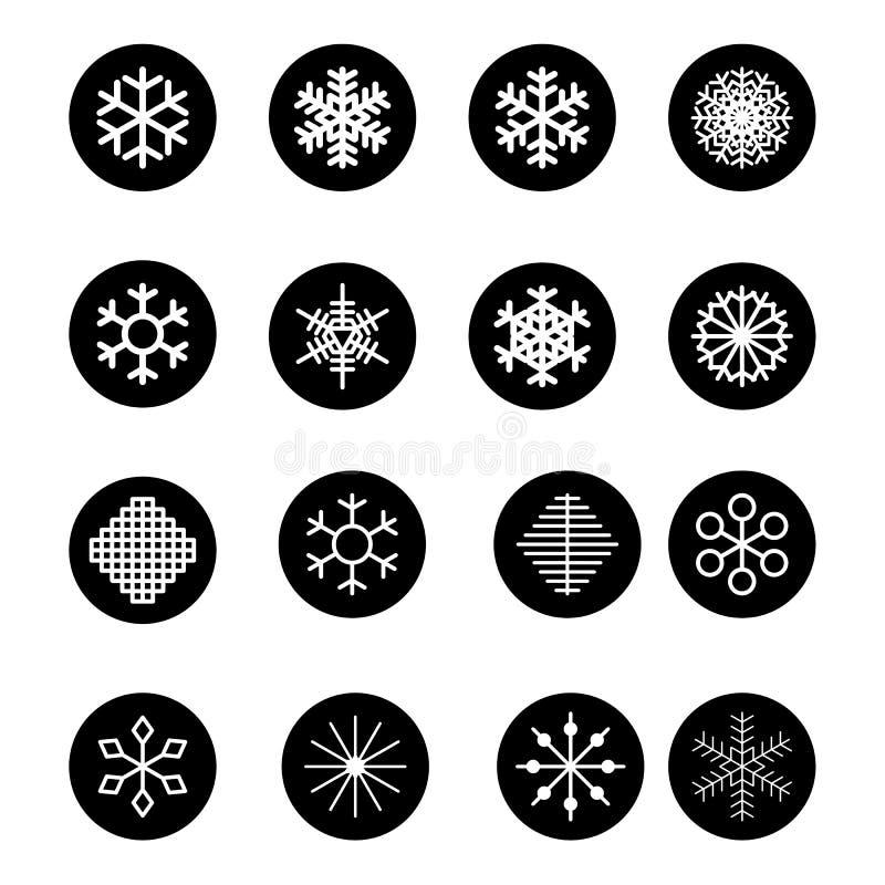 Bożenarodzeniowi płatki śniegu na białym tle również zwrócić corel ilustracji wektora ilustracji