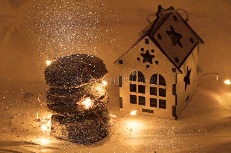 Bożenarodzeniowi Piernikowi ciastka, tradycyjni zima wakacje karmowi obraz stock