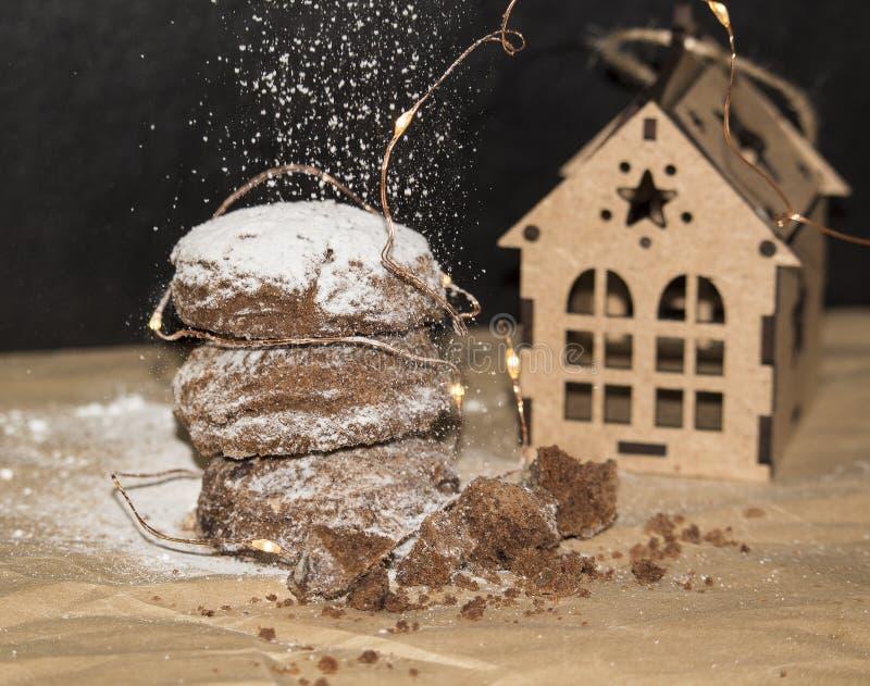 Bożenarodzeniowi Piernikowi ciastka, tradycyjni zima wakacje karmowi zdjęcia royalty free