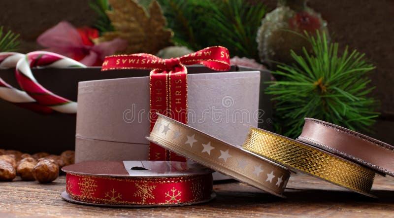 Bożenarodzeniowi prezentów akcesoria zdjęcie royalty free