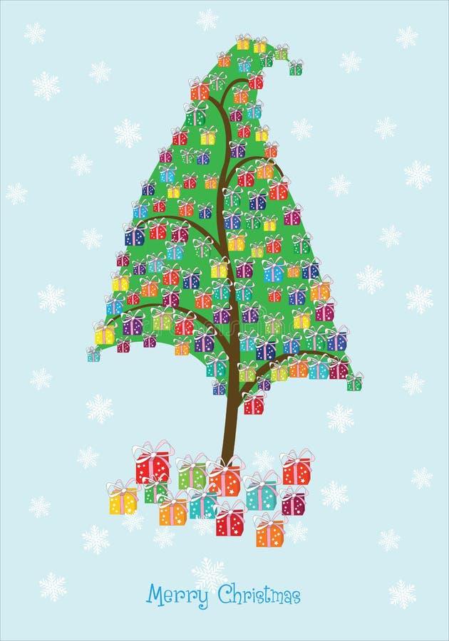 Bożenarodzeniowi prezenty Drzewni zdjęcia stock