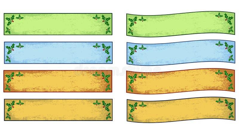 Bożenarodzeniowi roczników sztandary royalty ilustracja