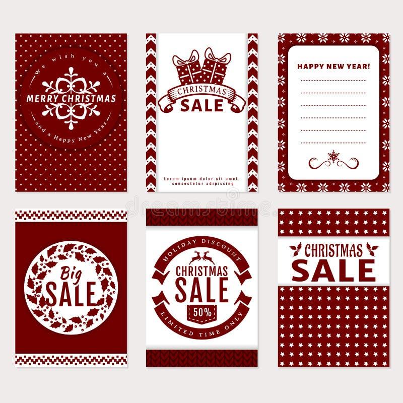 Bożenarodzeniowi sztandary ustawiający - sprzedaż i kartka z pozdrowieniami ilustracji