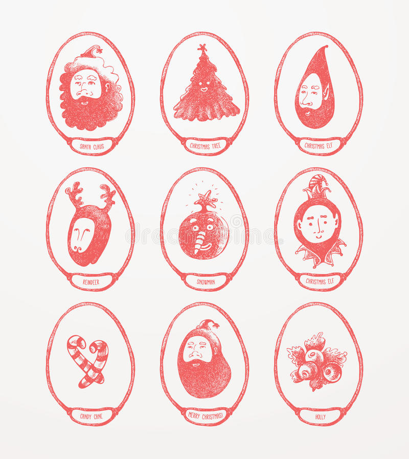 Bożenarodzeniowi tematów medaliony ilustracji