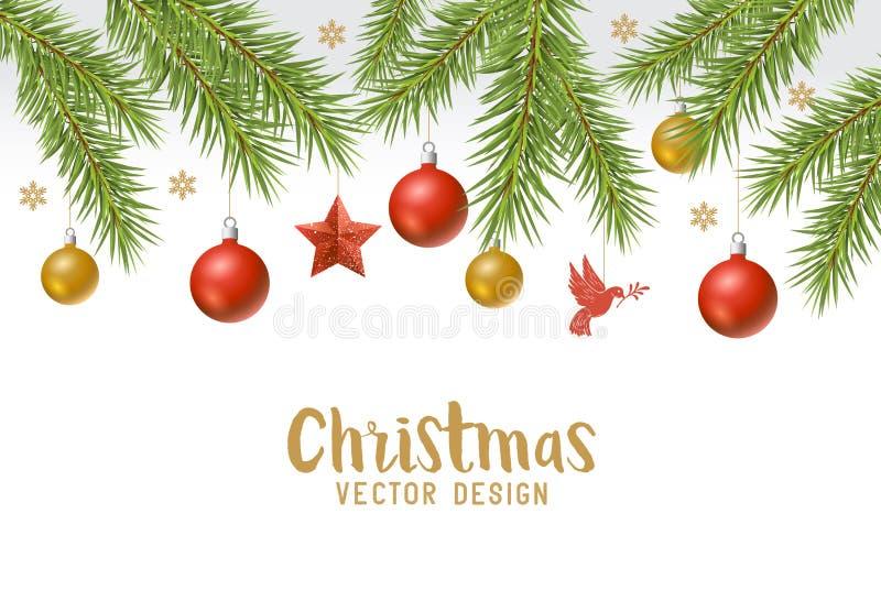 Bożenarodzeniowy świąteczny tło granicy projekt royalty ilustracja