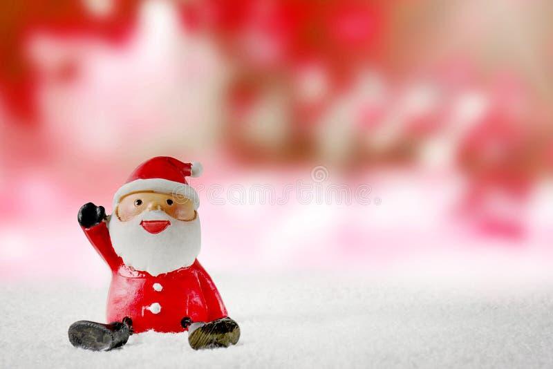 Bożenarodzeniowy Święty Mikołaj kreskówki tło zdjęcia stock