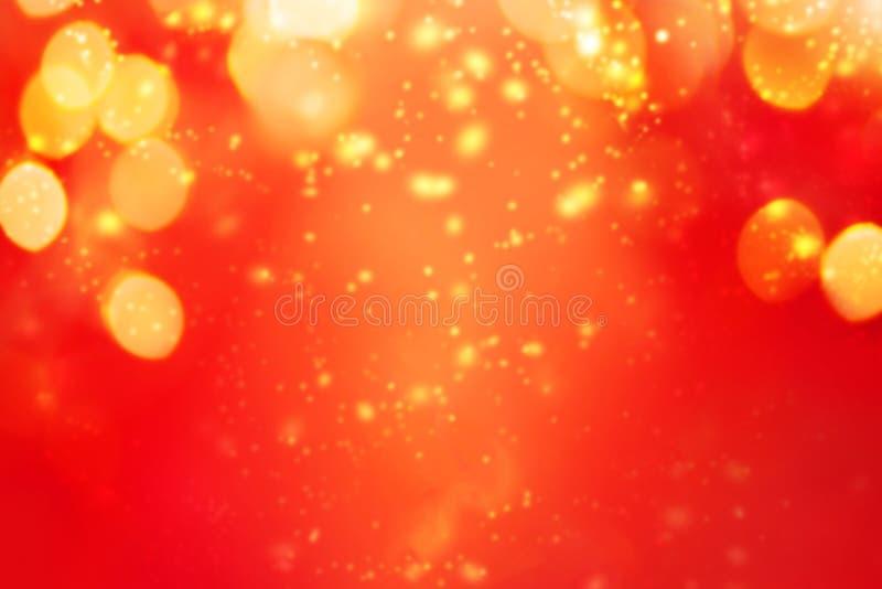 Bożenarodzeniowy abstrakcjonistyczny czerwonego światła tło Świąteczny xmas abstrakt fotografia stock
