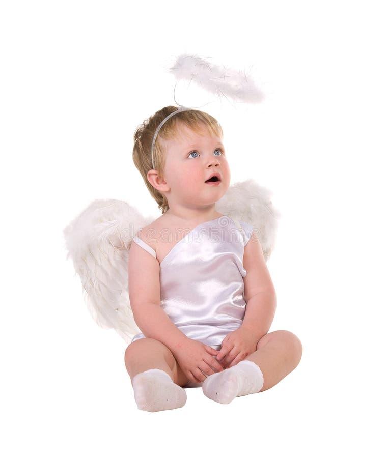 Bożenarodzeniowy anioł, mały dziecko zdjęcia stock