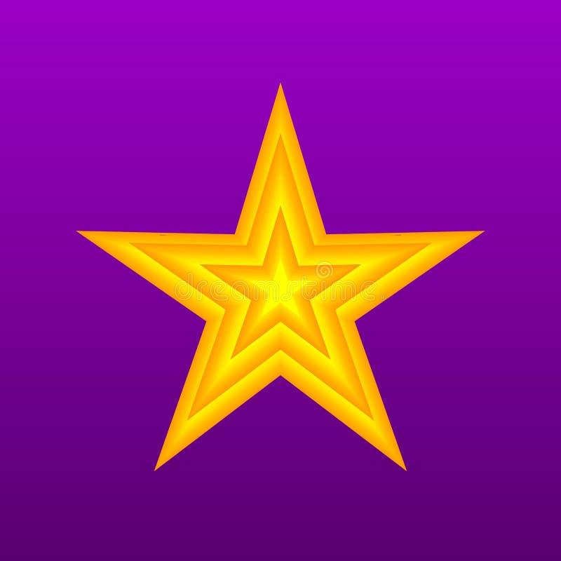 Bożenarodzeniowy Aplikacyjny tło Jaskrawa gwiazda na fiołkowym tle Ilustracja kartka z pozdrowieniami dla twój projekta Wektorowy ilustracji