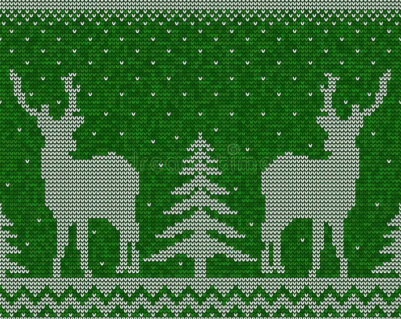 Bożenarodzeniowy bezszwowy deseniowy tło z deers royalty ilustracja