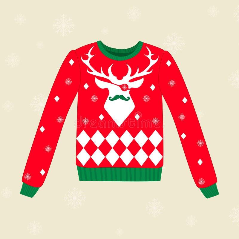 Bożenarodzeniowy brzydki pulower ilustracji
