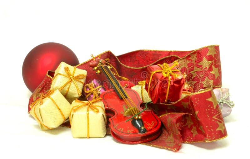 Bożenarodzeniowy czas i prezenty, kartka bożonarodzeniowa zdjęcie royalty free