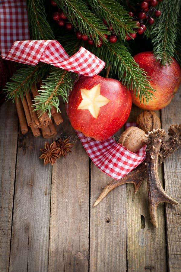 Bożenarodzeniowy czas, jabłka zdjęcia royalty free