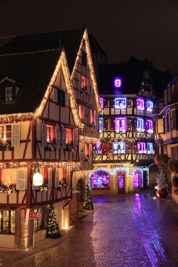 Bożenarodzeniowy czas w Alsace obrazy royalty free