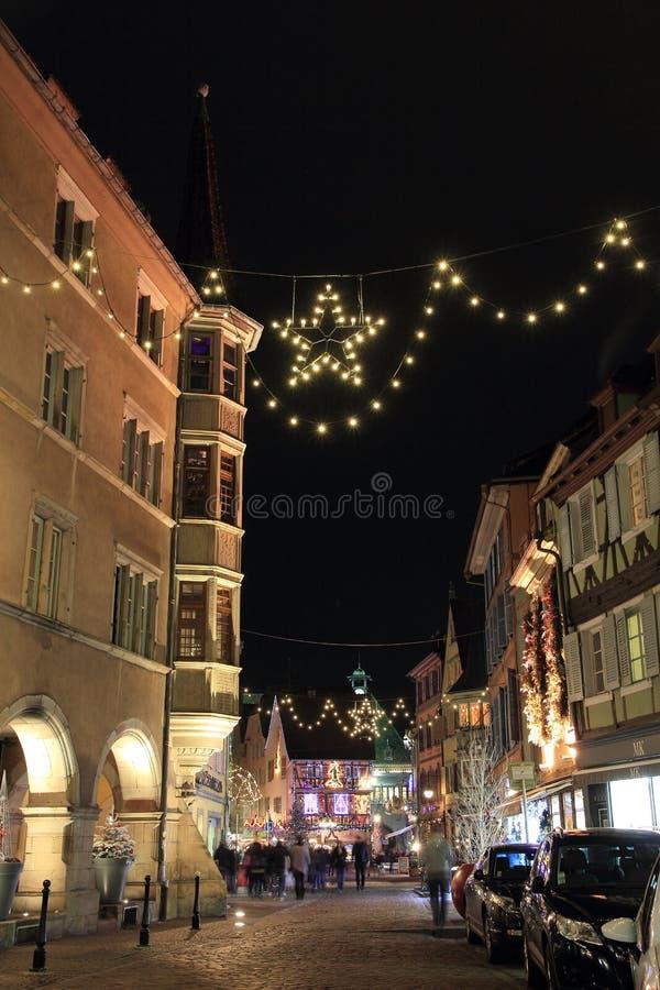 Bożenarodzeniowy czas w Alsace fotografia stock