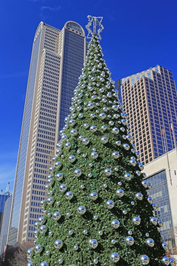 Bożenarodzeniowy czas w W centrum Dallas zdjęcia stock