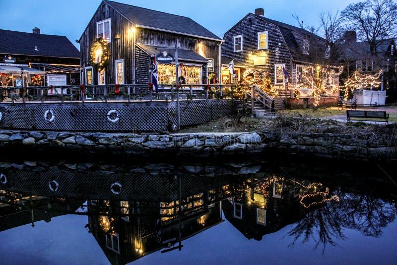 Bożenarodzeniowy czas w Wickford, Rhode - wyspa obraz royalty free