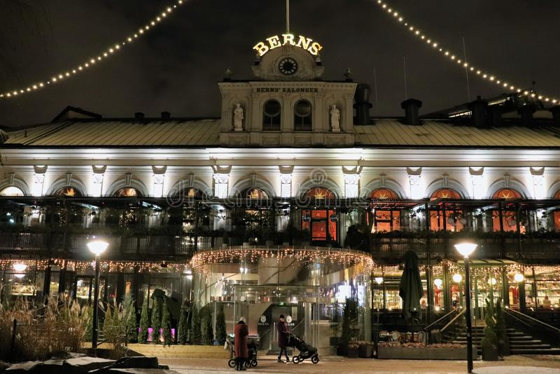 Bożenarodzeniowy duch przy Bern salonami w Sztokholm zdjęcia stock