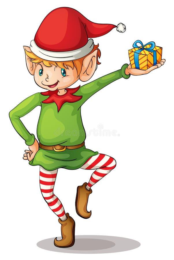 Bożenarodzeniowy elf ilustracja wektor