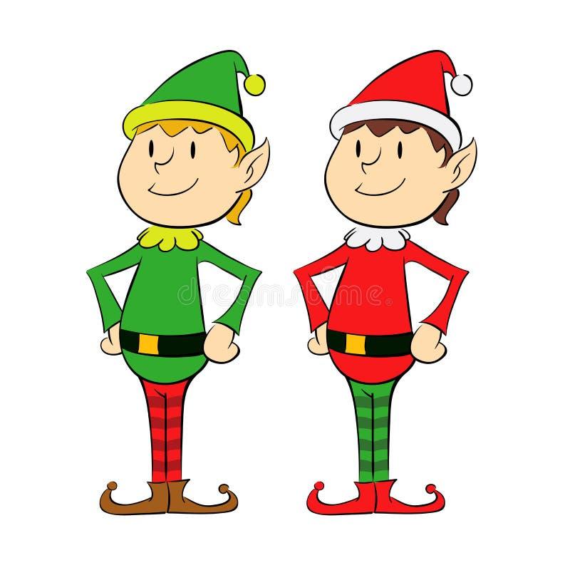 Bożenarodzeniowy elf ilustracji