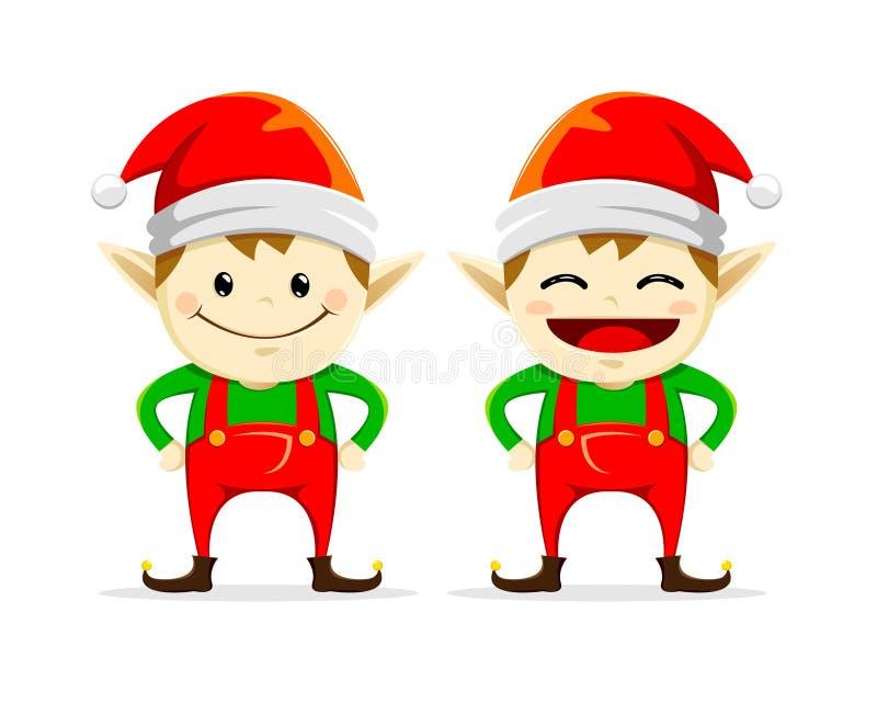 Bożenarodzeniowy elfa bliźniak ilustracja wektor