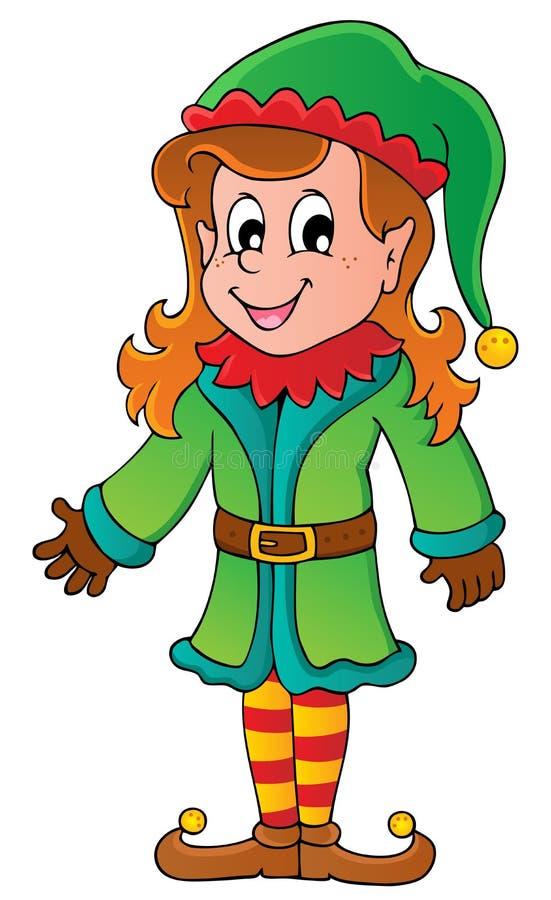 Bożenarodzeniowy elfa temat 5 ilustracja wektor