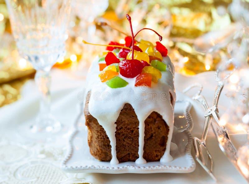 Bożenarodzeniowy fruitcake fotografia stock