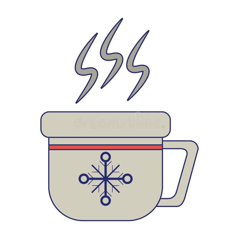 Bożenarodzeniowy gorący kawowy kubek ilustracji