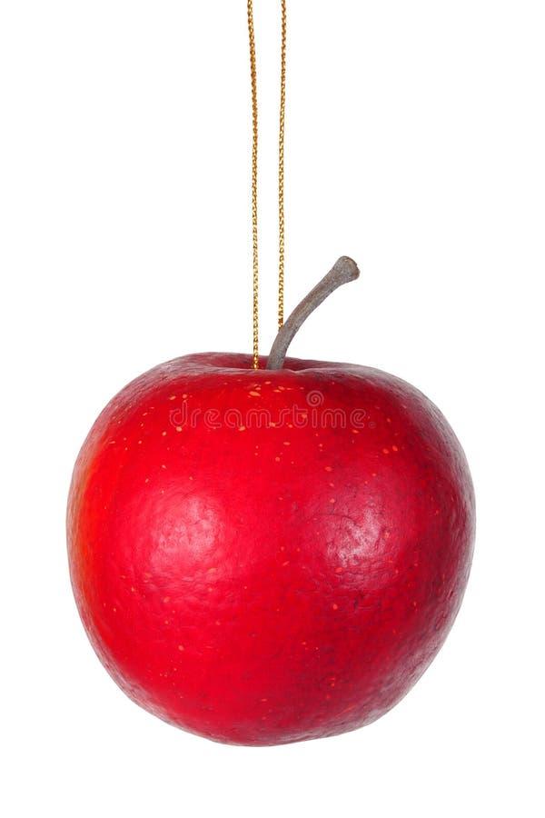 Bożenarodzeniowy jabłko na bielu obrazy royalty free