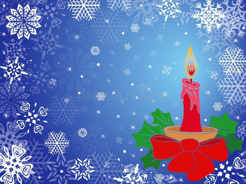 Bożenarodzeniowy kartka z pozdrowieniami w błękitnych odcieniach ilustracja wektor