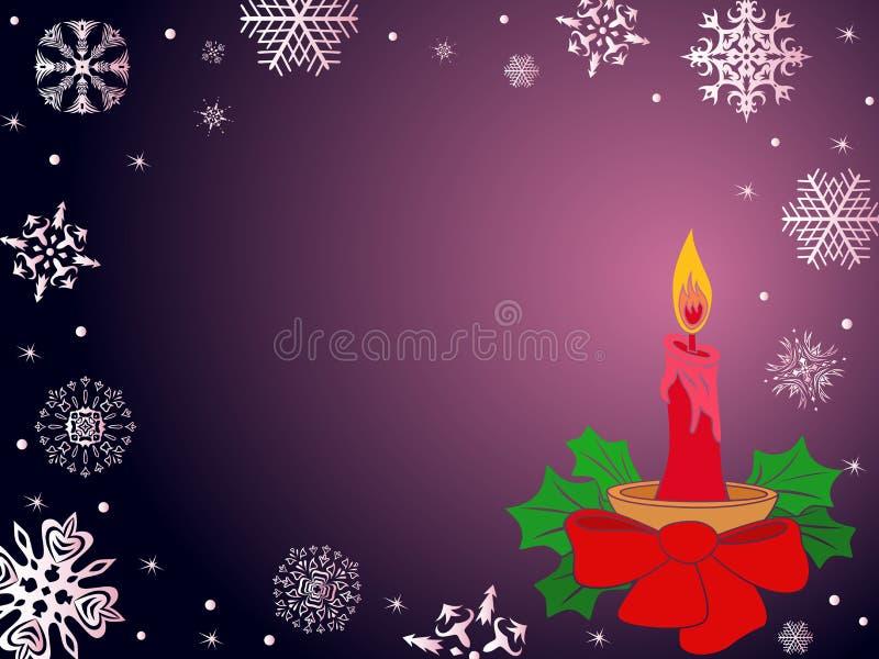 Bożenarodzeniowy kartka z pozdrowieniami w ciemnych purpurach ilustracji