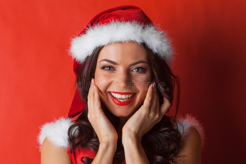 Bożenarodzeniowy kobiety śmiać się fotografia stock